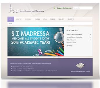 S I Madressa – Logo & Web