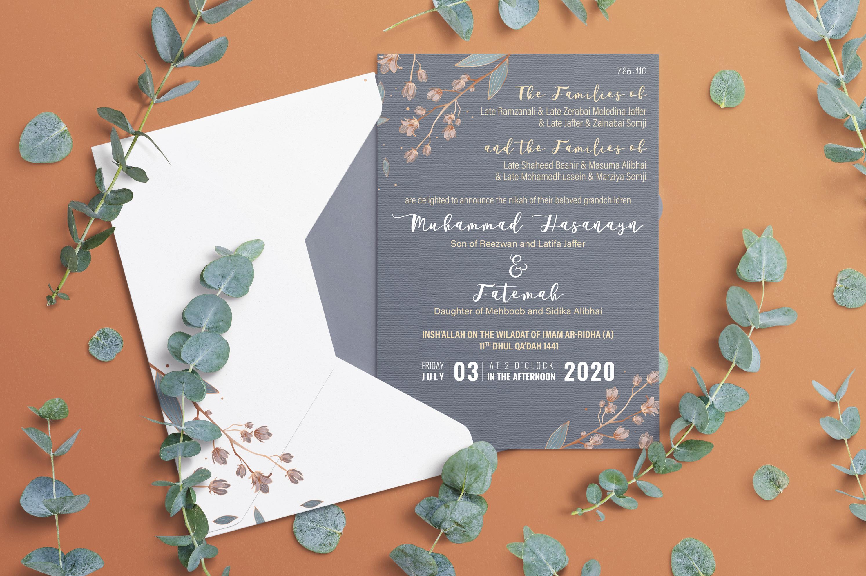 Muhammad Hasanyn & Fatemah – Wedding Invitation
