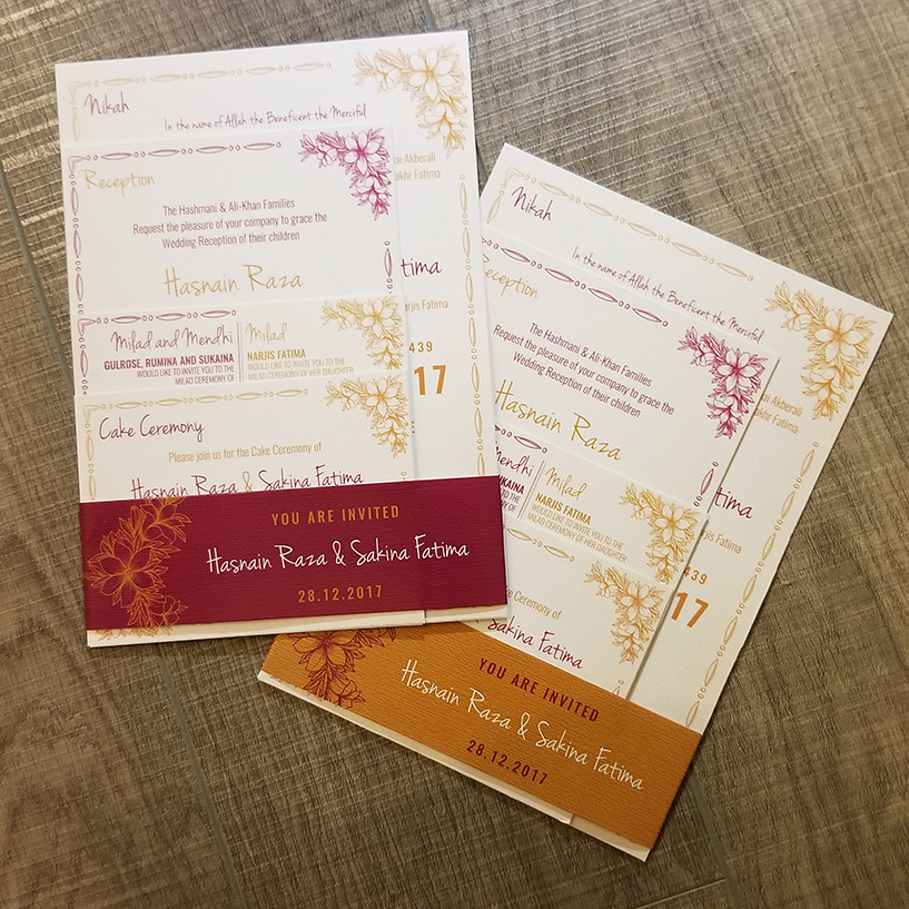 Hasnain Weds Sakina – Wedding Card Set