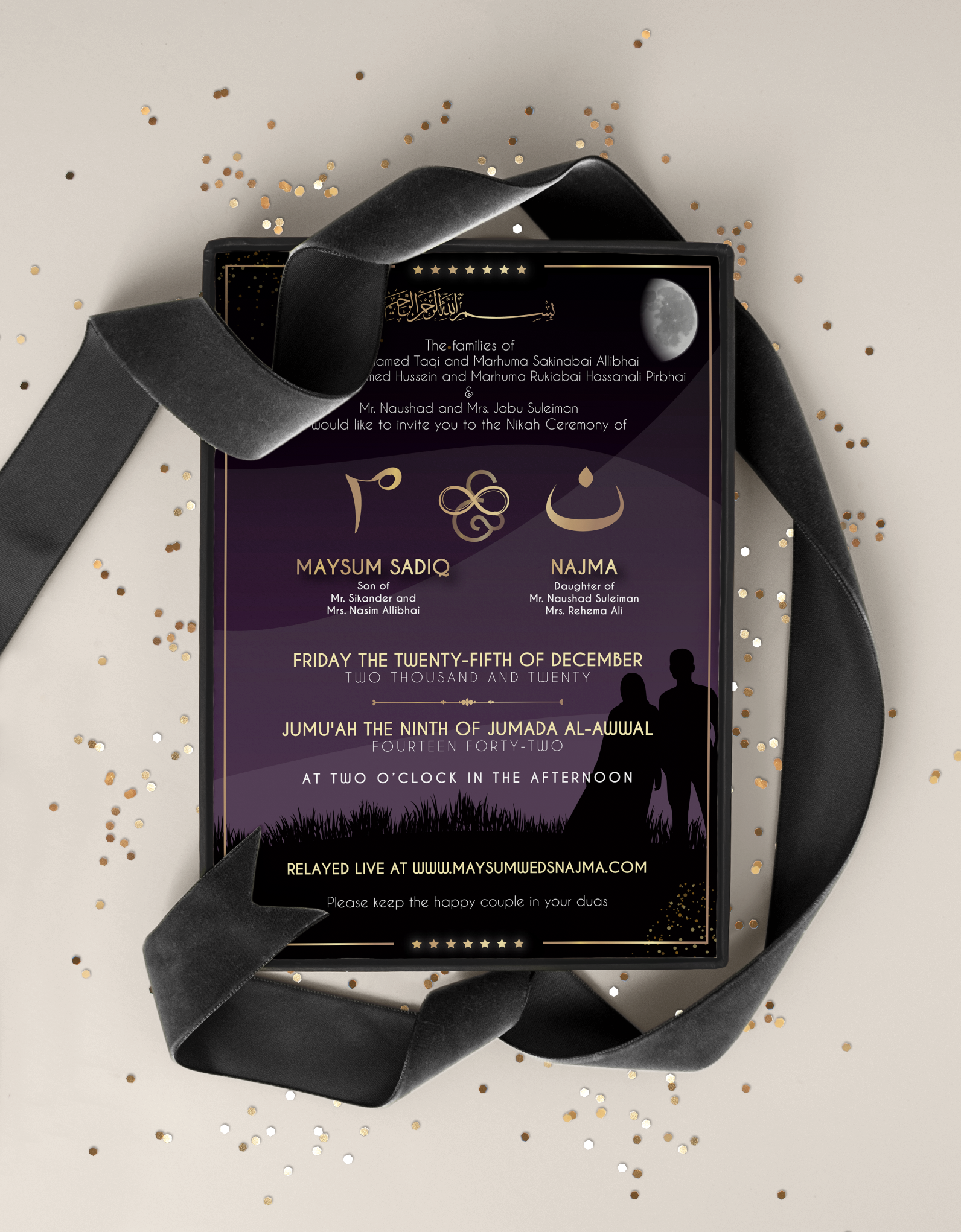 Maysum Sadiq Weds Najma – Wedding Invitation