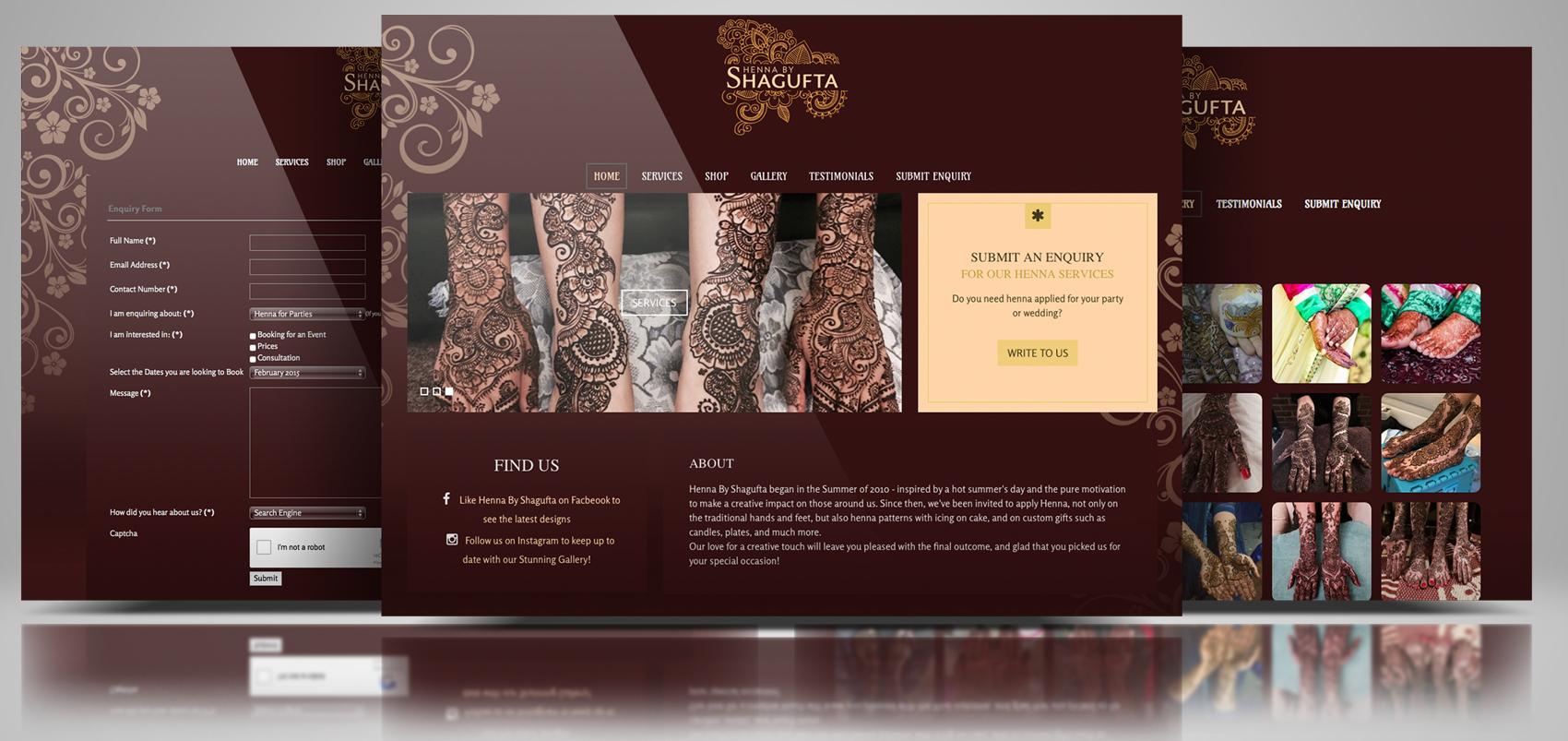 Henna By Shagufta – Logo & Web